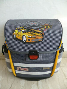 "McNeill School Bag School Backpack "" Dark Racer "" 6-tlg. Grey/Yellow Neu"