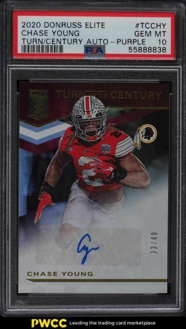 2020 Donruss Elite Turn Of the Century Purple Chase Young ROOKIE AUTO /49 PSA 10