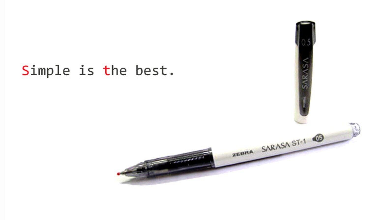 Zebra JJZ58 SARASA ST-1 Rollerball pen 0.5mm 9 Colors Select