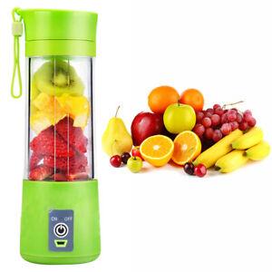 380ml USB Electric Fruit Juicer Smoothie Maker Blender Shaker Bottle Portable UK