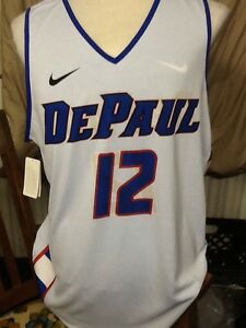 new concept 6da9e 6083c Details about nike depaul blue demons youth medium basketball jersey #12  Reversible sublimated