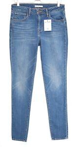 Levis-721-High-Rise-Skinny-Medium-blau-lange-Stretch-Jeans-Gr-12-w30-l34
