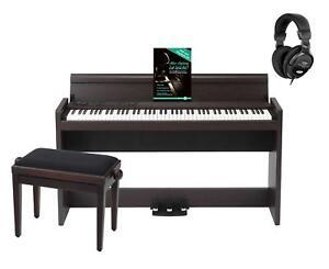 Korg-LP-380-RW-Digitalpiano-Set-88-Tasten-22W-Verstaerker-Bank-Kopfhoerer-Rosewood
