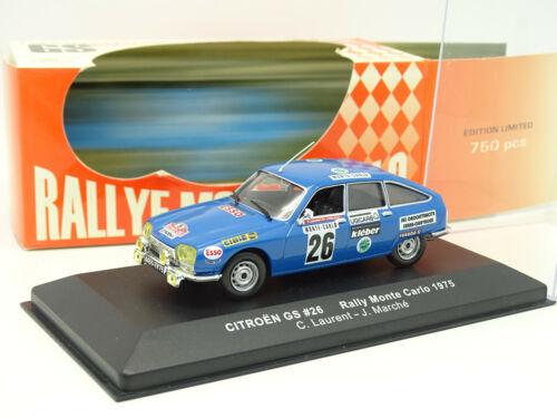 Ixo 1//43 Citroen GS Rallye Monte Carlo 1975
