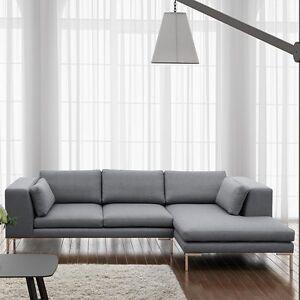 Wohnzimmer Eckcouch ecksofa zimase sofa eckcouch mit metalfüße wohnzimmer grau