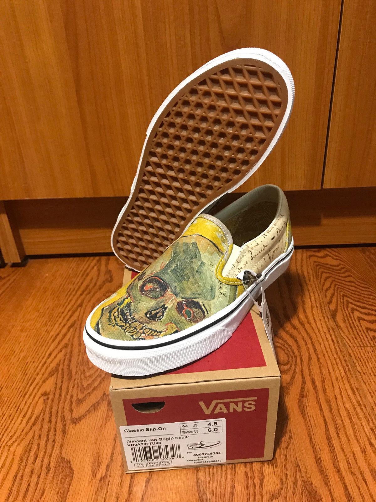 Vans X Vincent Van Gogh Museum Skull Slip On On On Sneaker VN0A38F7U48 In Hand ee3d6c