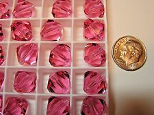 144 PCS SWAROVSKI CRYSTAL BEADS #5301 12MM ROSE