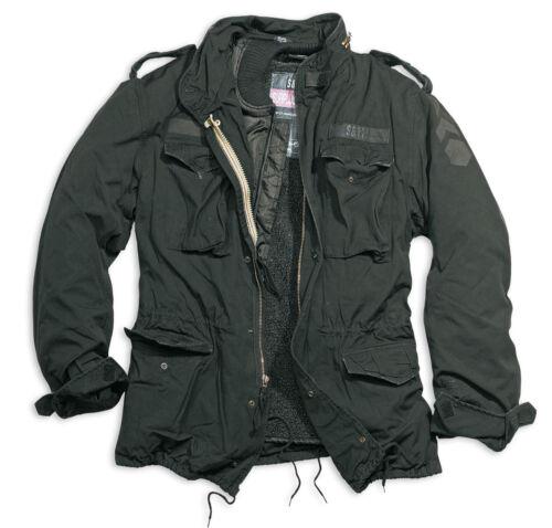M65 Parka Washed Jacket Field Vintage Surplus Us Regiment Black Classic BqEWva