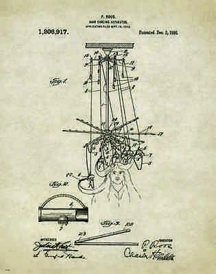 Hair Salon Stylist Patent Poster Art Print Hairdresser Cape Curling Iron PAT385