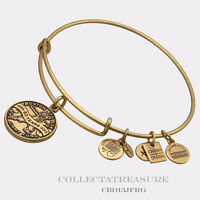 Authentic Alex and Ani Jimmy Fund Gold Charm Bangle CBD *SPECIAL DISCOUNT*