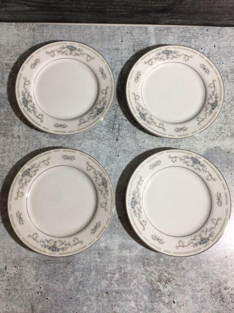 4 DIANE FINE PORCELAIN CHINA WADE BREAD PLATES 6 3/8