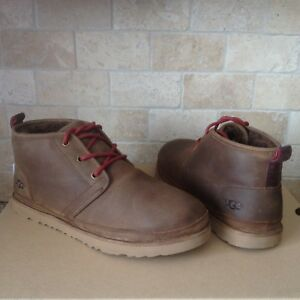525359f0db2 Details about UGG Neumel Grizzly Waterproof Leather Chukka Ankle Boots Size  US 10 Mens