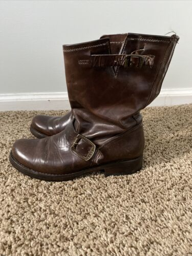Frye Veronica Engineer Brown Short Boot Size 5.5