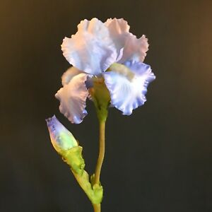 Large Light Blue Faux Silk Iris Artificial Wild Spring Flowers
