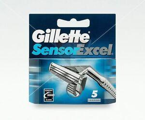 Gillette-Sensor-Excel-Rasierklingen-5-Stueck-Original-Ersatzklingen-OVP