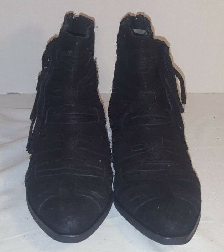 NEW FREE PEOPLE PEOPLE PEOPLE schwarz DECADES RAW SUEDE ANKLE Stiefel US 7 EUR 37 6dbbc9