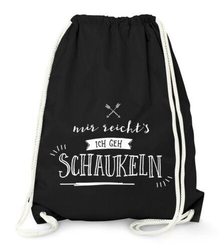Turnbeutel Sprüche Spruch Motiv Designs Prinzessin Schaukeln Moonworks®