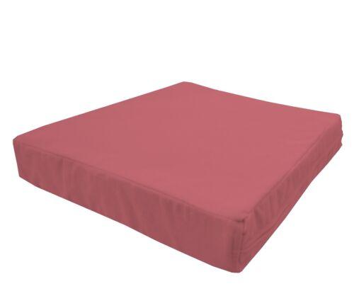 mb60t Deep Pink Flat Velvet Style 3D Box Thick Sofa Seat Cushion Cover*Custom