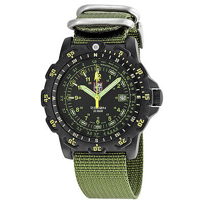 Luminox Recon Point Man Black Dial Green Nylon Mens Watch LM8826.MI