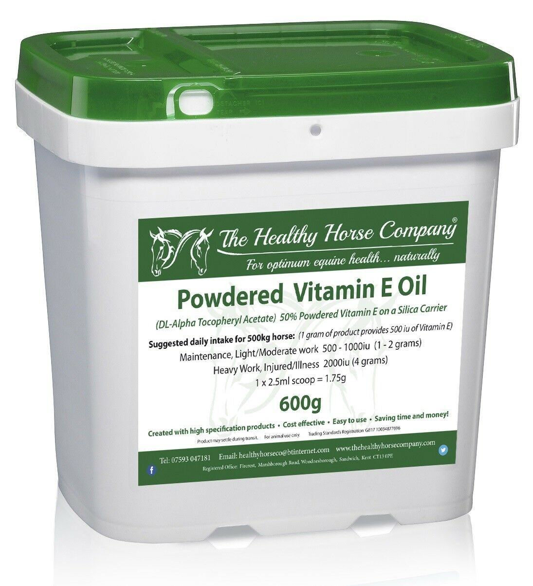 Vitamin E Oil - 600g Refill (Powder) Silica Carrier