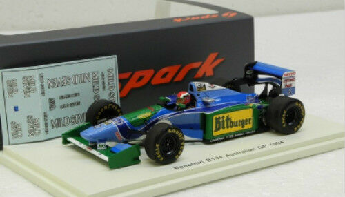 BENETTON B194 n.6 Grand Prix d'Australie 1994 SPARK MODEL 1 43  S4484