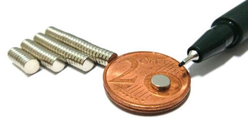 versch Würfel 1 mm Dicke Größen vernickelt Neodym-Supermagnete  Scheiben u