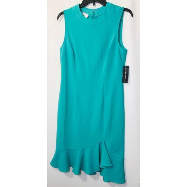 women Morgan Womens Green Sheath Dress Spring Sleeveless Sz Sz Sz 14 Polyester NWT 38d356