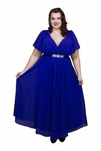 Scarlett-amp-Jo-Embellished-Chiffon-Maxi-Gown-Size-UK-18-Blue-rrp-75-DH079-PP-10