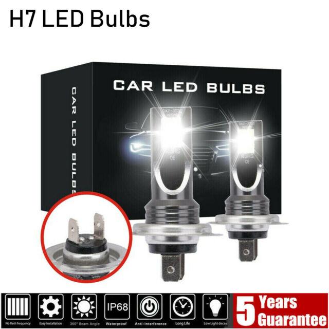 2x H7 CREE LED Headlight SMD 200W Super Bright Headlamp Globes Fog Light Bulbs