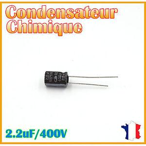 Condensateur-electrolytique-radial-2-2uF-400V-105-C-8x11-5mm