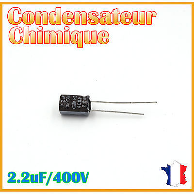 Condensateur Chimique//Électrolytique 4,7uF 4,7µF 50V RADIAL 105° Ø4x7mm