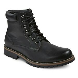 84a13eafbbc Details about MOSSIMO MADDOX STYLE SHOES / BLACK WORK OR HIKING COMBAT  ANKLE BOOTS / MENS NWT!