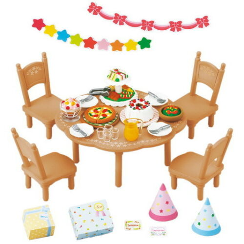 Sylvanian Families Calico Critters Furniture Party Set