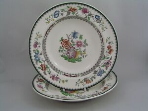 TWO-SPODE-CHINESE-ROSE-9-034-RIMMED-SOUP-PASTA-BOWLS