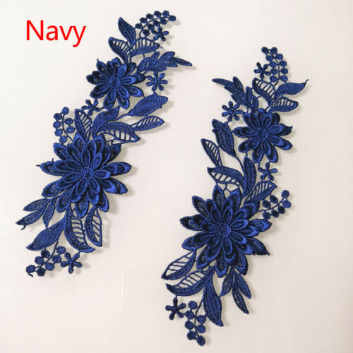 3D Applique Embroidery Sewing Flower Patches Ribbon Fabric Lace Wedding