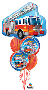 FIREMAN-SAM-BALLOON-BOUQUET-FIRE-ENGINE-BIRTHDAY-5-BALLOON-QUALATEX-BOUQUET