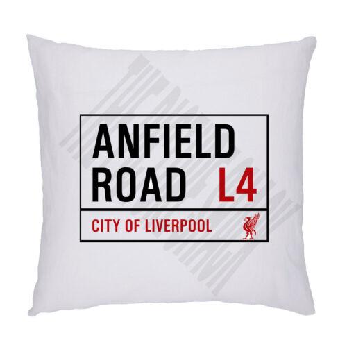 inc rembourrage Liverpool FC OREILLER 45 x 45 cm Anfield RD Street Signe COUSSIN