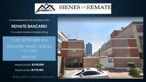 """Oportunidad única """"Remate Bancario"""" Departamento en Escandón, Miguel Hidalgo"""
