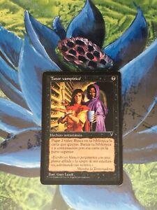 CARD-PREMIUM-DELUXE-TUTOR-VAMPIRICO-MAGIC-GATHERING-1-CARTA-VINTAGE-VISIONES