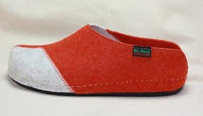 Dr.Feet anatomic Hausschuhe orange//grau