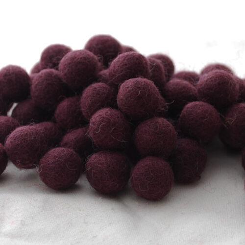 1cm 1.5cm 2cm 2.5cm 3cm Felt Balls Black 100 Count 100/% Wool