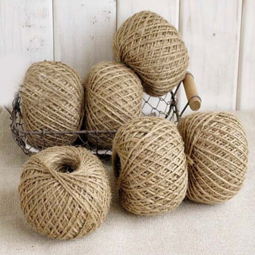 30 metres Natural Brown Jute Hessian Burlap Twine Rustic String Cord Rope 2mm