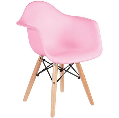 Set of 2 Kids Armchair Natural Wood legs For Children Child Preschool Kitchen