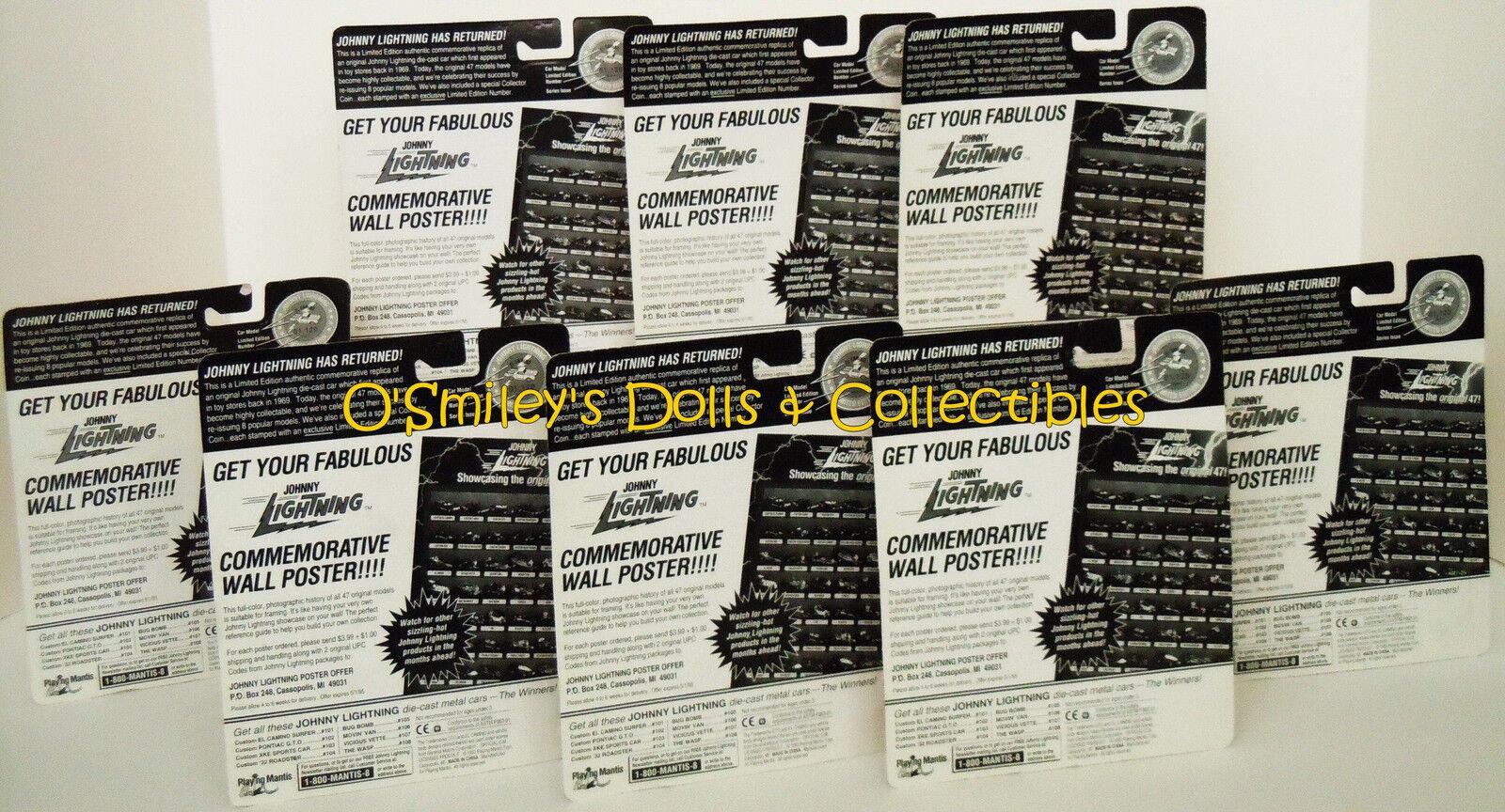 HTF Complete Set JOHNNY LIGHTNING Limited Comm Ed Ed Ed Q-CAR Series K UNPAINTED _MOC 6533e0
