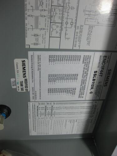 NIB NEW Siemens Starter SSLBO in Enclosure SSLB1120C w// SA11A Relay