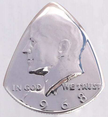 Coin Guitar Pick The Original-/'65-/'69 US Kennedy Half Dollar 40/% Silver-U Choose