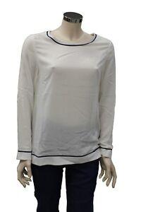 T-Shirt-da-donna-bianca-lunga-North-Sails-Boatneck-girocollo-manica-lunga-moda