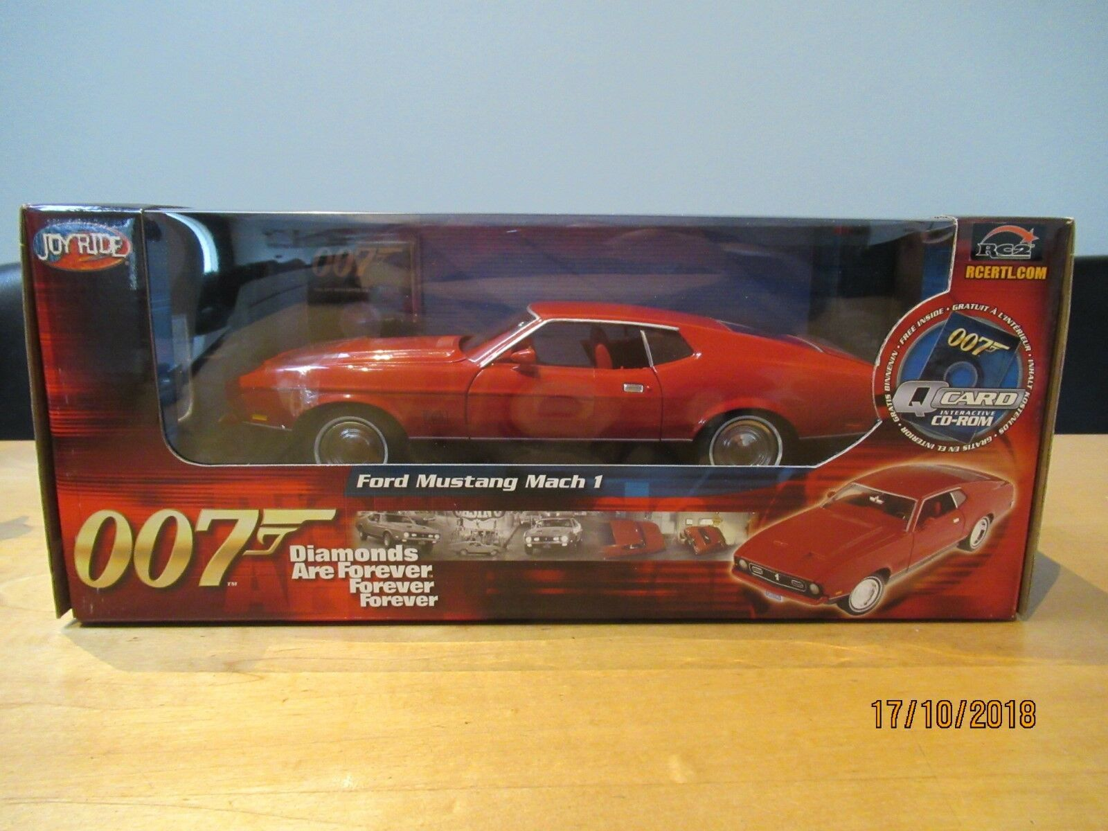 007 James Bond Ford Mustang ertl 1 18 33848 Diamonds Are Forever 1971 m&b 1 18