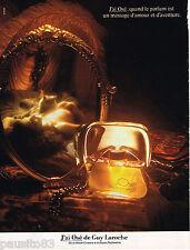 PUBLICITE ADVERTISING 055 1981  GUY LAROCHE  parfum femme J'AI OSE