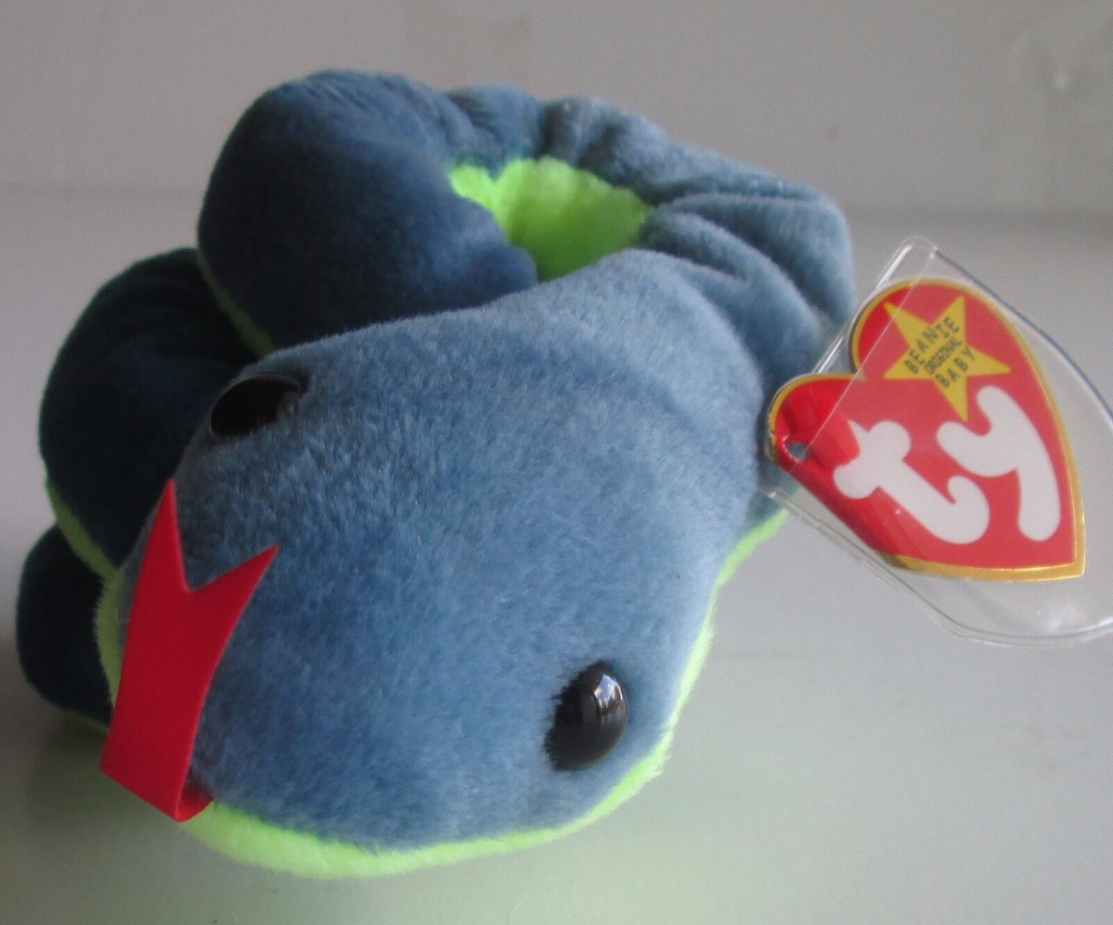 Rare Ty Hissy the Snake Beanie Baby PVC Pellets, great condition